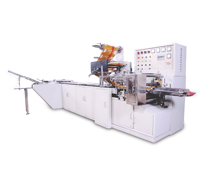 One-edge Biscuit Packaging Machine with Double Servo Feeder